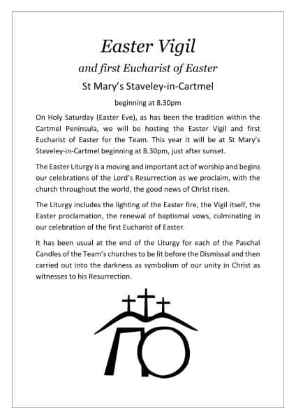 Easter Vigil - Staveley-in-Cartmel - 20th April 2019