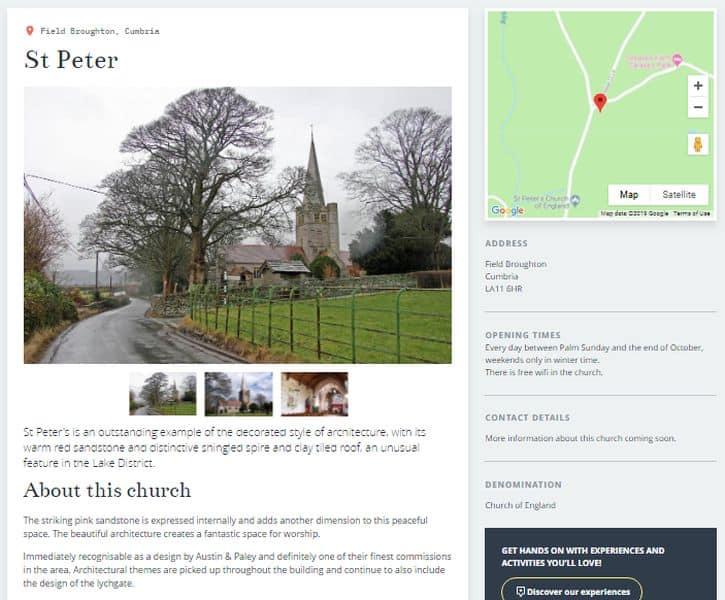 Explore Churches St Peter's Field Broughton Cumbria